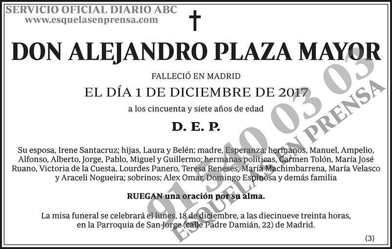 Alejandro Plaza Mayor